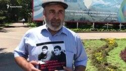 Муртазали Гасангусенов вышел на акцию протеста в Махачкале