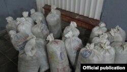Мешки с черемшой, изъятые у жителя Чечни. Фото: Центральное таможенное управление