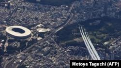 Стадионот каде се одржуваат олимписките игри во Токио. Илустрација.