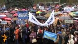 Protest al profesorilor la Chișinău