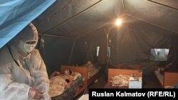Кыргызстандагы убактылуу бейтапканалардын бири.
