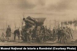 Artilerie grea germană lângă Brăila, 1916