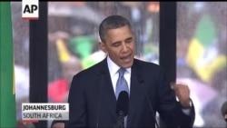 Obama Urges World To Act On Mandela Legacy