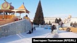 Ледовый городок в Улан-Удэ