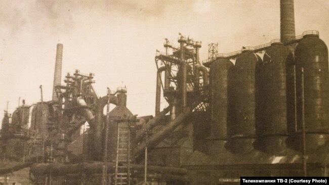 Доменный цех Кузнецкого металлургического завода. 1932 г.