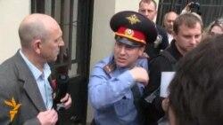 Пикет в поддержку политзаключенных на Петровке, 38