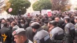 У Єревані протестували проти нового закону про податок до пенсійного фонду