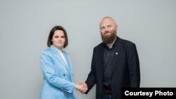 Сьвятлана Ціханоўская і Павал Станкевіч