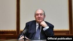 Армения президенті Армен Саркисян. 16 қараша, 2020 жыл.