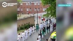 «Коридор позора» для премьера от врачей бельгийской больницы