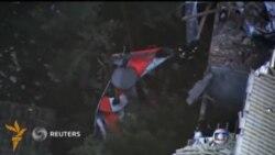 Бразилия пойтахтида турар жой устига вертолëт қулади