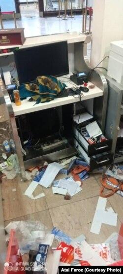 آسیب های وارد شده به میدان هوایی بین المللی حامد کرزی