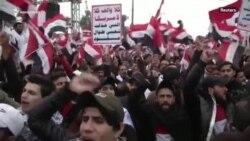 Իրաքում ԱՄՆ ռազմական ներկայության դեմ բողոքի զանգվածային ցույց Բաղդադում