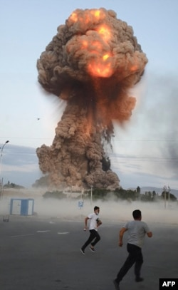 Explosions at a Defense Ministry munitions depot in the southern region of Zhambyl