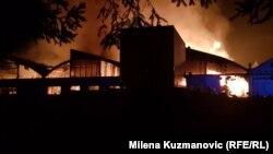 Izgorelo više od sedam hiljada kvadata pogona i magacina