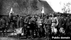 Командование польского кавалерийского полка во время польско-советской войны в 1920 году.