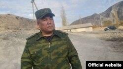 Абдикарим Алимбаев, Мамлекеттик чек ара кызматынын төрагасынын орун басары. Үч-Дөбө айылы, Баткен облусу. 26-октябрь, 2020-жыл.
