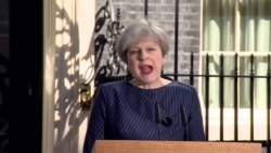 Тереза Мэй о досрочных выборах в парламент Великобритании
