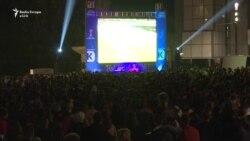 Atmosfera u Prištini tokom utakmice Kosovo - Hrvatska