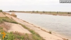 Полноводный Северо-Крымский канал возле Джанкоя