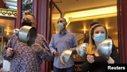 Protest la un restaurant în Franța
