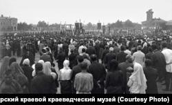 Молебен Союза русского народа на Новобазарной площади. Красноярск. 1907 г.