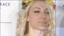 Инна Шевченко из Femen разделась на Берлинале за мир во всем мире