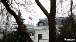 Россиянинг Чехиядаги элчихонаси биноси, Прага, 2018 йил 26 марти