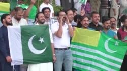 پاکستان کې له کشميريانو سره د يووالي ساعت ولمانځل شو