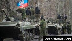 Forțe ale separatiștilor pro-ruși în Estul Ucrainei