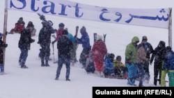 آغاز برگزاری مسابقات ورزشی در فصل زمستان در ولایت بامیان