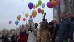 Афанасьев отпраздновал день рождения на акции в Киеве (видео)