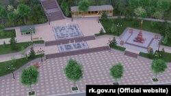 Эскиз будущей стелы «Город воинской славы» на проспекте Айвазовского в Феодосии