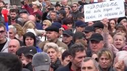 """La protestul susținătorilor guvernului Sandu: """"Azi s-a făcut o nedreptate poporului"""""""