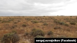 Земельна ділянка Сергія Шувайникова в Сімферопольському районі. Фотографія опублікована на сторінці Шувайникова у Facebook