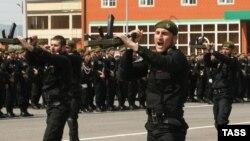 Бойцы полка имени Ахмата Кадырова (иллюстративное фото)