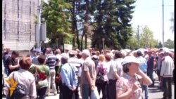 Протест на стечаjци во Скопје