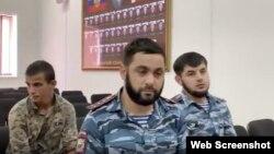 Скриншот с видео, опубликованного в инстаграме МВД по Чечне