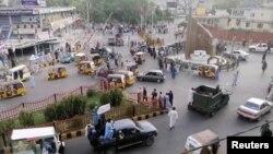 افراد گروه طالبان در شهر جلال آباد