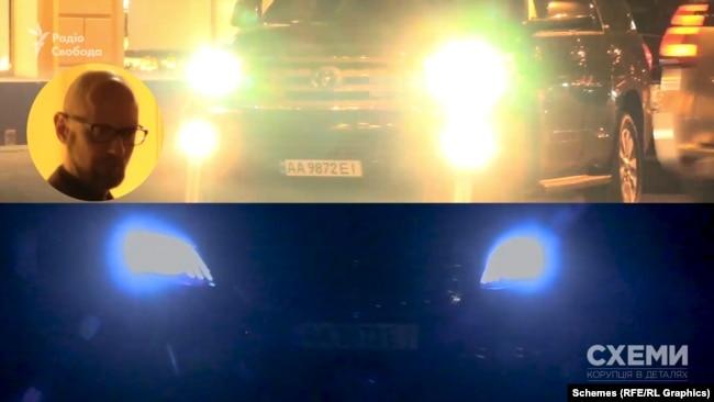 Інший Mercedes також має оперативні номери, але «Схеми» вже фіксували їх на автівці колишнього прем'єр-міністра Арсенія Яценюка