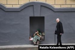 На улицах Москвы. Апрель 2021 года