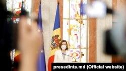 Președinta Maia Sandu, mai 2021