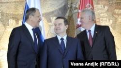 Gost i domaćini: Sergej Lavrov, Ivica Dačić i Tomislav Nikolić