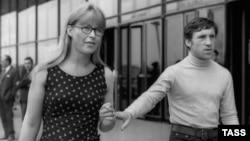 Москва. Владимир Высоцкий и Марина Влади. Июль 1968