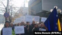 Protest bh. građana koji su radili u Hrvatskoj