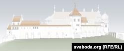 Так мае выглядаць Стары замак пасьля рэканструкцыі з боку ракі Нёман