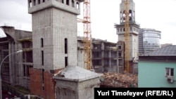 The demolition of the Central Mosque in Moscow on September 11