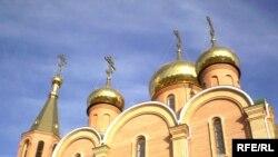 Новая православная церковь в Актобе.