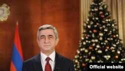 Armenia -- President Serzh Sarkissian delivers New Year's address, Yerevan, 31Dec2010