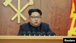 Кіраўнік КНДР Кім Чэн Ын выступае з навагоднім зваротам да краіны